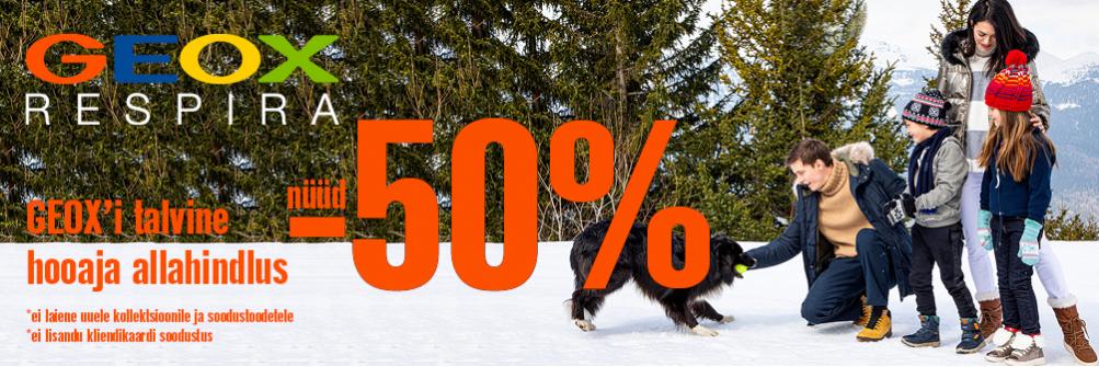 GEOX`i HOOAJA LÕPUSPURT, nüüd kuni -50%!