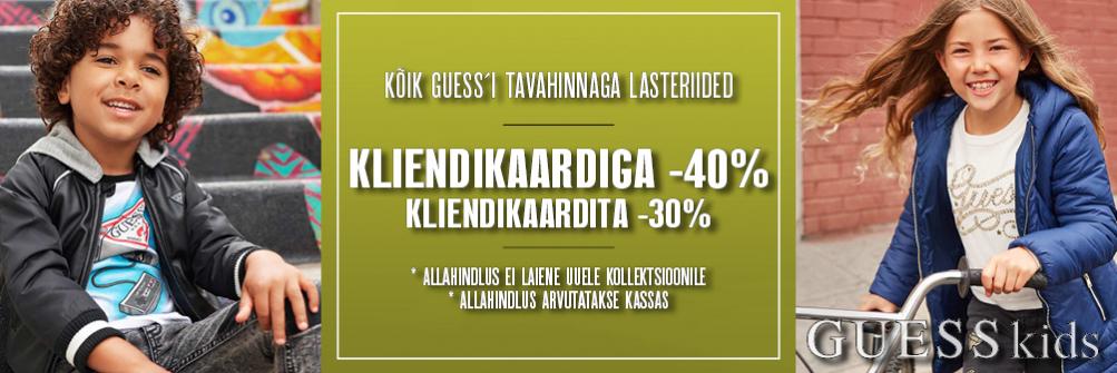 GUESS LASTERIIDED KLIENDILE -40%