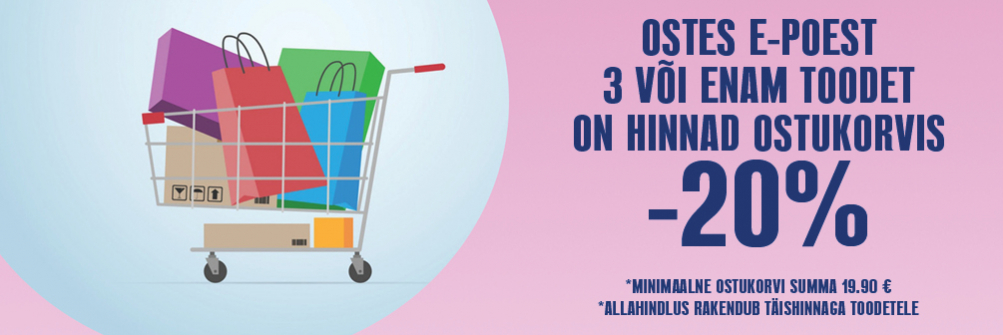 LASTE MAAILMA E-POE OSTUKORVIS ALLAHINDLUS -20%