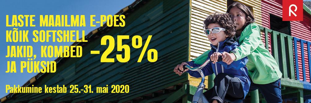 Laste Maailma e-poes softshell tooted -25%