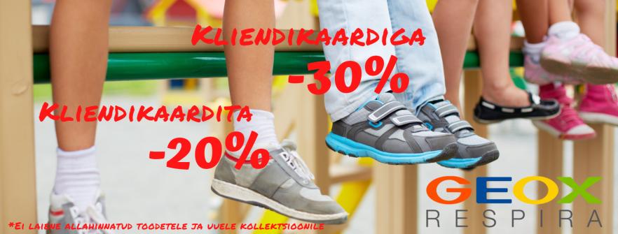 GEOX´i jalanõude hooaja allahindlus -30%