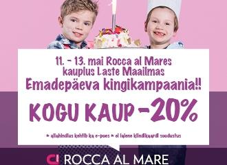 Rocca al Mare kaupluses Laste Maailm KOGU KAUP -20%