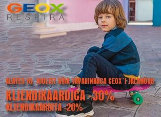 GEOX`i JALANÕUDE HOOAJA ALLAHINDLUS kuni -30%