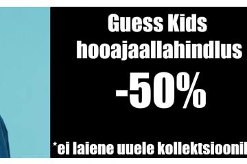 Laste Maailmas Guess Kids´i lisaallahindlus -50%