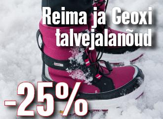 REIMA JA GEOX'i  TALVEJALANÕUD E-POES JA KAUPLUSTES -25%