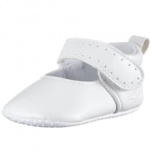 Playshoes beebi nahast papud 111627, Valge
