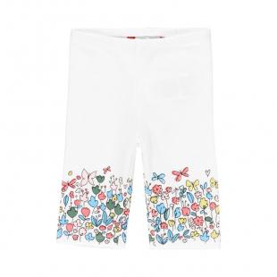 UUS KOLLEKTSIOON Boboli tüdrukute retuusid 229036, Valge lilledega
