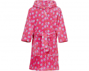 Playshoes fliisist hommikumantel Lilled 340142, 18 roosa