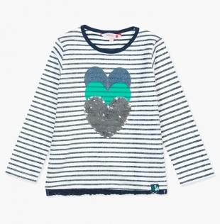 Boboli tüdrukute džemper 417103, Tumesinine triip