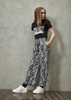 D-XEL tüdrukute püksid 4501909, 0128 mustakirju