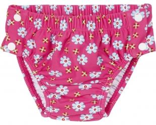Playshoes väikelaste ujumispüksid trukkidega Lilled 460269, 18 roosa