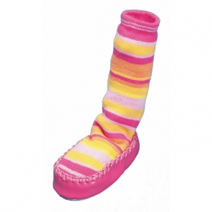 Playshoes sokk-sussid Triibulised 481106, Roosa