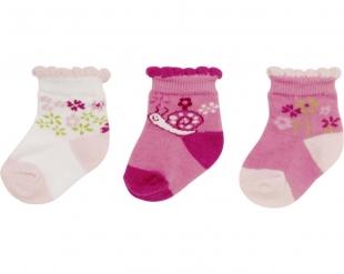 Playshoes beebitüdruku sokid 3-pakk 495106, 18 roosa