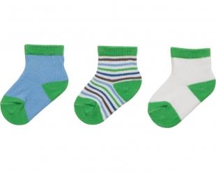 Playshoes beebisokid 3-pakk 495116, 29 roheline