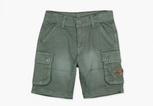 Boboli poiste lühikesed püksid 527127, hallikas roheline