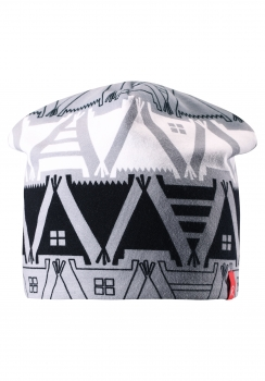 Reima müts HIRVI 528539, 9993 Must/Valge