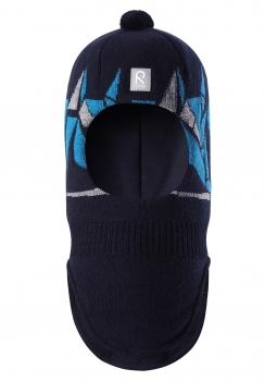 Reima maskmüts MULTE 528550R, 698A tumesinine/triip