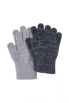 MELTON sõrmkindad 2-pakk 5841, 190 Must