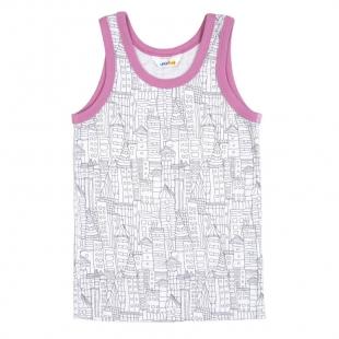 Joha tüdrukute alussärk bambus 74103, Valge/roosa
