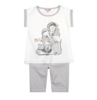 Boboli tüdrukute pidžaama 927019, Valge/hall