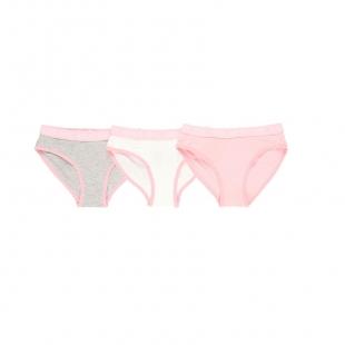 UUS KOLLEKTSIOON Boboli tüdrukute aluspüksid 3-pakk 928043, roosa/valge/hall