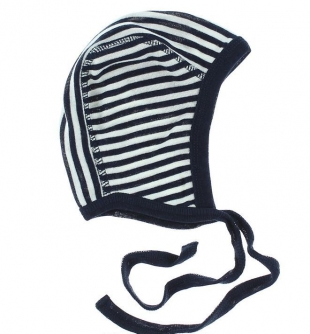 Joha imikumüts vill/siid 96032, triibuline