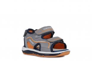 UUS KOLLEKTSIOON Geox`i poiste sandaalid TODO BOY, C0036 Hall/Oranž