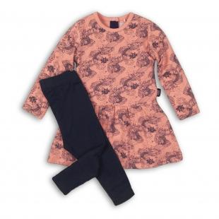 UUS KOLLEKTSIOON Koko Noko tüdrukute kleit ja retuusid 37B-32956, Roosa/tumesinine
