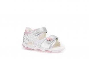 Geoxi´i väikelaste sandaalid NICELY, C0434 Valge/hõbe