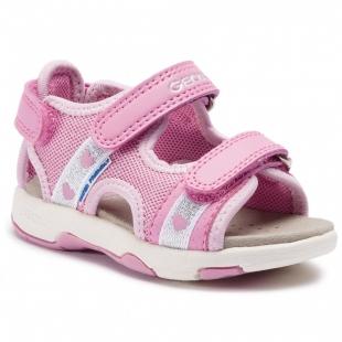 UUS KOLLEKTSIOON Geox`i tüdrukute sandaalid SAND, C8006 Tumeroosa