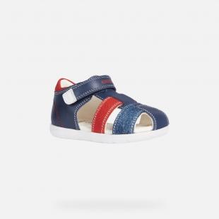 Geox´i poiste sandaalid ALUL, C0735 t.sinine/pun