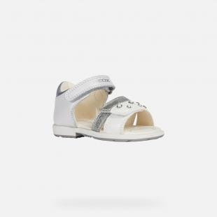 UUS KOLLEKTSIOON Geox`i tüdrukute sandaalid VERRED, C1000 Valge
