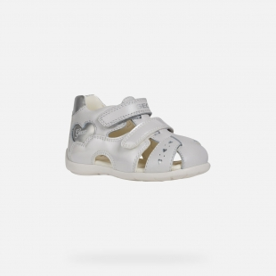 UUS KOLLEKTSIOON Geox`i tüdrukute sandaalid KAYTAN, C0007 Valge/hõbe