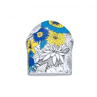 Barbaras tüdrukute müts CU96/C, Valge/helesinine lill