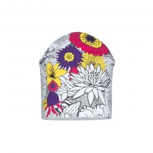 Barbaras tüdrukute müts CU96/C, Valge/roosa lill