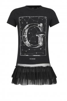 GUESS Kids suure logo ja satsiga kleit, tumesinine