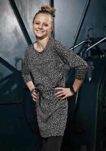 D-XEL kleit leopardi mustriline 4502781, Must/Valge