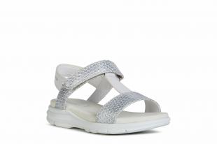 UUS KOLLEKTSIOON Geox`i tüdrukute sandaalid SUKIE, C0007 Valge/hõbe