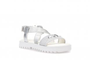 Geox´i tüdrukute sandaalid CORALIE, C1007 Hõbe