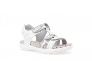 Geox´i tüdrukute sandaalid CUORE, C1236 Valge/heleh