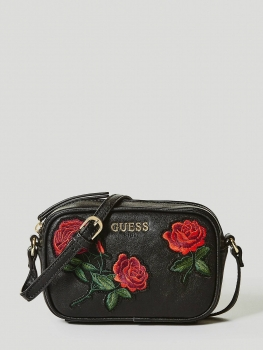 GUESS´i roosidega õlakott, Must