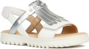 UUS KOLLEKTSIOON Geox`i tüdrukute sandaalid CORALIE, C0007 Valge/hõbe