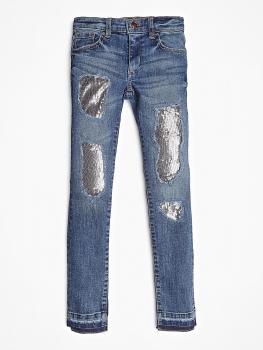 GUESS Kids tüdrukute litritega teksapüksid, teksasinine