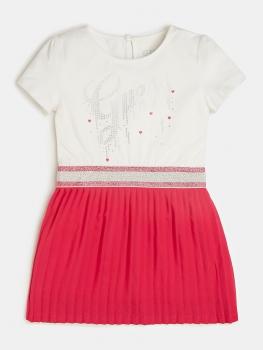 UUS KOLLEKTSIOON Guess Kids tüdrukute kleit, Valge/roosa