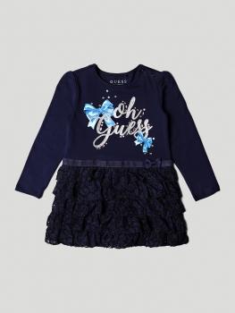 GUESS Kids tüdrukute kleit lipsudega, tumesinine