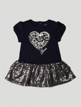 GUESS kids kleit litritest südamega, tumesinine