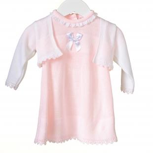 Bluesbaby tüdrukute kleit ja boolero RR0119, Roosa