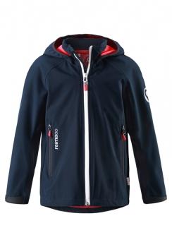ReimaGO®  poiste softshell jakk HATCH 531263, 6980 Tumesinine