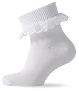 MELTON tüdrukute sokid satsiga 220041, White