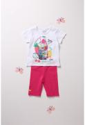 UUS! Boboli tüdrukute komplekt T-särk ja retuusid 242097, 1100 valge